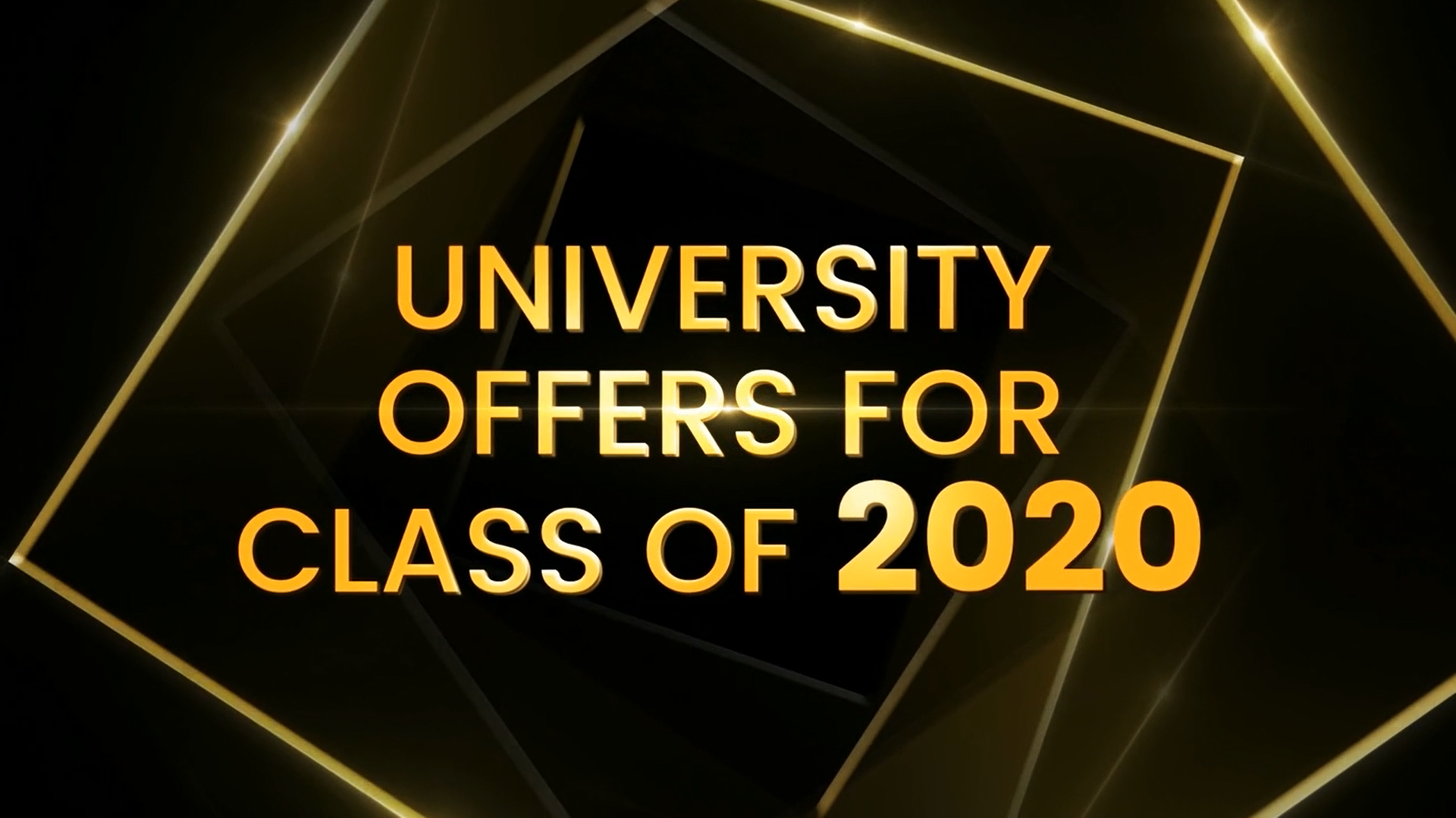 University Offers for Class of 2020